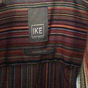 Ike Behar Shirts - IKE Behar mens Button Up Shirt Purple modern M